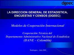 Cooperación Técnica del DANE de Colombia