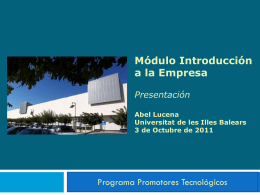 Presentación - Universitat de les Illes Balears