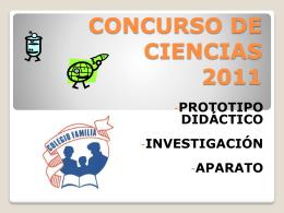 CONCURSO DE CIENCIAS 2008