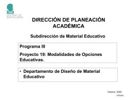 Modalidades de Opciones Educativas