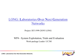 LONG: Laboratories Over Next Generation Networks