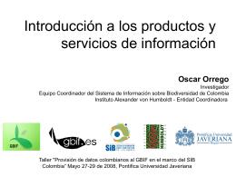 Introducción a los productos y servicios de información