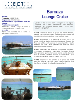 Barcaza Lounge Cruise