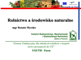 Rolnictwo a środowisko naturalne ( . ppt)
