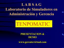 LABSA G Laboratorio de Simuladores en Administración y Gerencia