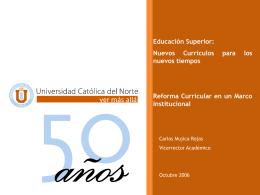Nuevos currículos para los - Universidad Católica del Norte