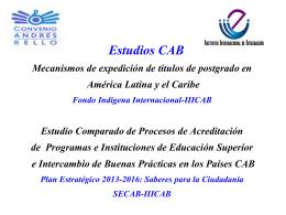 Descargar Presentación - Convenio Andrés Bello