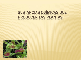 Sustancias químicas que producen las plantas