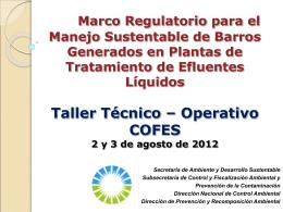 Operativo Barros generados en Plantas de tratamiento de