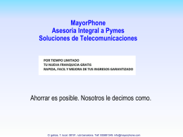 Presentacion Mayorphone