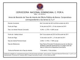 enero-10-abril-2011 - Cervecería Nacional Dominicana