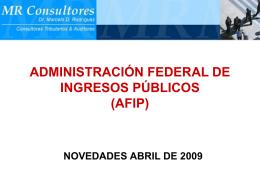 01- AFIP - Novedades