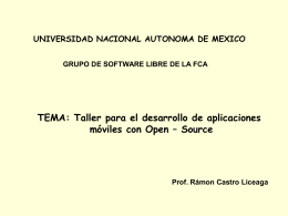 Diapositiva 1 - Docencia FCA-UNAM