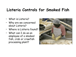 Listeria Training Program for All Employees