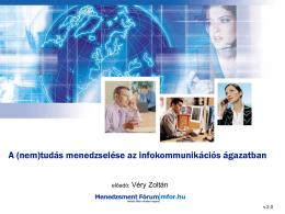 A (nem)tudás menedzselése az infokommunikációs ágazatban