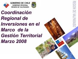 PRESENTACION COMISION MIXTA CORE 03 03 08