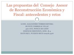 Las propuestas del Consejo Asesor de Reconstrucción Económica