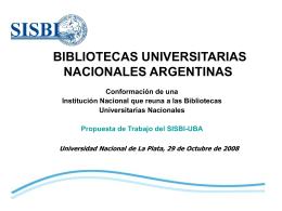 Propuesta de Trabajo - Sistema de Bibliotecas y de Información