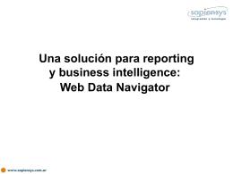 Web Data Navigator - Sapiensys: Tecnología SAP