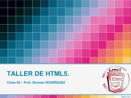 TALLER HTML5 02 - Enclave | Diseño + Programación