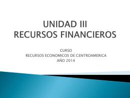 Presentación Unidad III Recursos Financieros final (5658112)