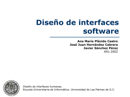 Diseño de interfaces software