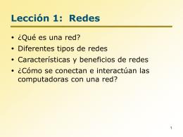 Lección 1 Redes
