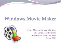 Windows Movie Maker - uscohipi