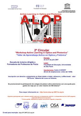 2ª circular (PPoint) - Faculdade de Educação