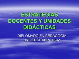 estrategias docentes y unidades didácticas