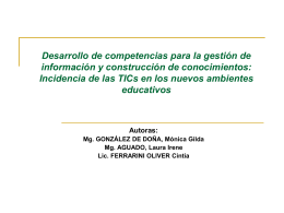 DESARROLLO DE COMPETENCIAS PARA LA GESTIÓN DE