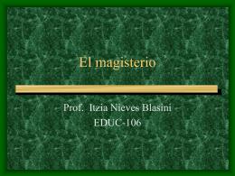 El magisterio - David Arocho Pérez