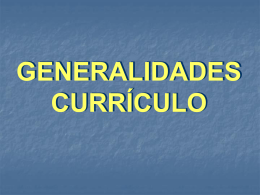 Generalidades curriculo
