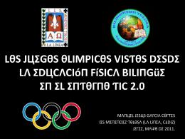Manuel Jesús García Cortés. Las olimpiadas vistas