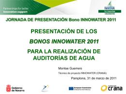 Presentación de los Bonos INNOWATER 2011