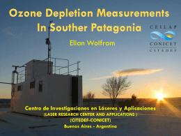 Ozone depletion measurements in Southern Patagonia