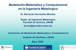 de diapositiva - Modelación Matemática y Computacional