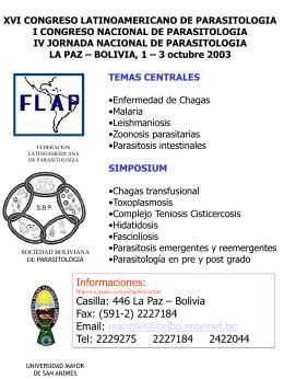 xvi congreso latinoamericano de parasitologia