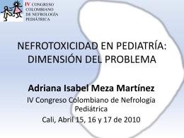 nefrotoxicidad en pediatria