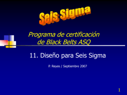 Diseño para Seis Sigma - Contacto: 55-52-17-49-12