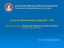 23. Vigilancia en Salud Pública 16-05-2011