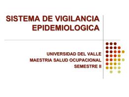 VIGILANCIA EPIDEMIOLOGICA Y EN SALUD