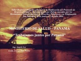 Taller Regional Dirigido a Promover la Ratificación del Protocolo de