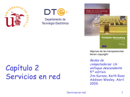 Tema 2. Servicios en red - Departamento de Tecnología Electrónica