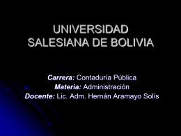 PLANEACIÓN - Universidad Salesiana de Bolivia