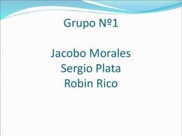 Grupo Nº1 Carlos De La Cruz Sergio Plata Robin Rico