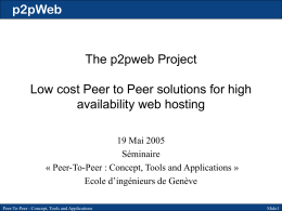 p2pWeb project - w3architect.com