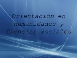 Orientación en Humanidades y Ciencias Sociales