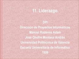 11. Liderazgo. - Universidad Politécnica de Valencia