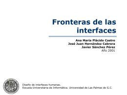 Frontera de ejecución - Universidad de Las Palmas de Gran Canaria
